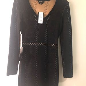 Bebe black knit cocktail dress